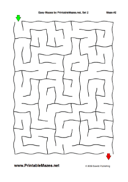 "Easy Mazes Set 2 — ""Leisurely"" maze"