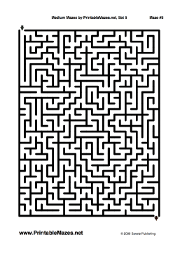 "Medium Mazes Set 5 — ""Run-of-the-Mill"" maze"