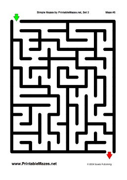 "Simple Mazes Set 3 — ""Elementary"" maze"