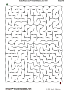 "Easy Mazes Set 1 — ""Effortless"" maze"