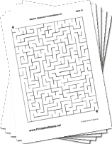 "Medium Mazes Collection — ""Work For It"" maze"
