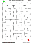 "Simple Mazes Set 1 — ""Child's Play"" maze"