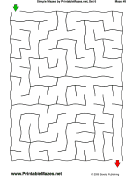 "Simple Mazes Set 6 — ""Simple As A-B-C"" maze"